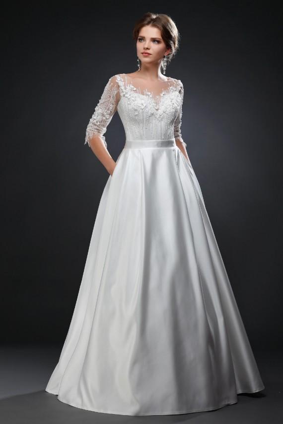 Фото свадебного платья Опера (атлас)