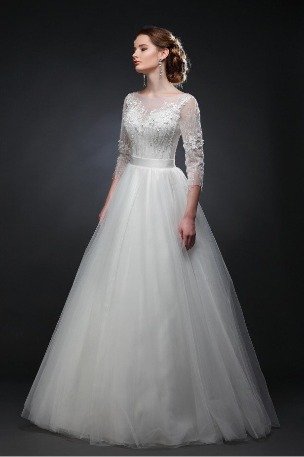 Фото свадебного платья Опера (фатин)